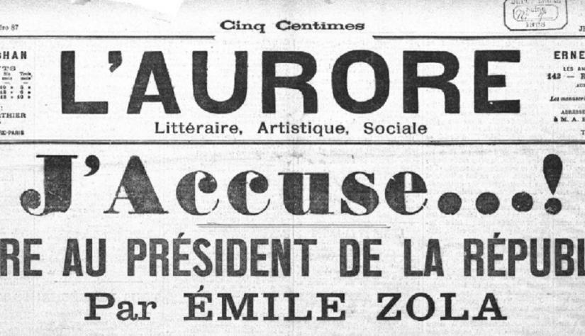 Dreyfus, Émile Zola e a literaturaengajada
