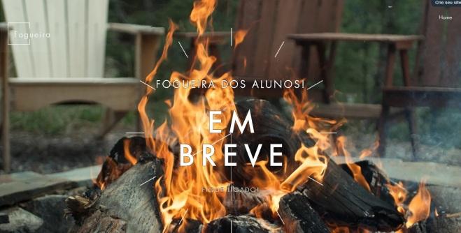 fogueira dos alunos