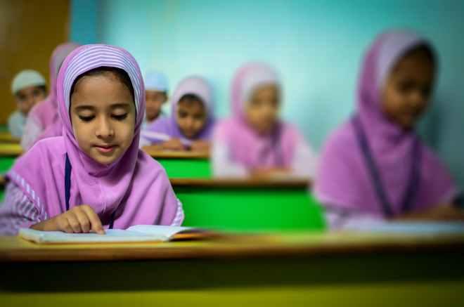 blur children class classroom